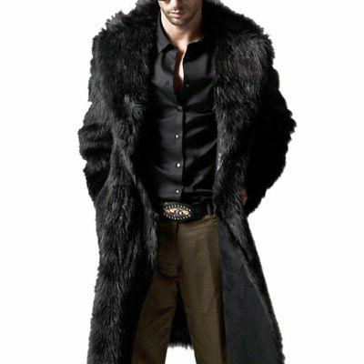 Mens Winter Faux Warm Coat New