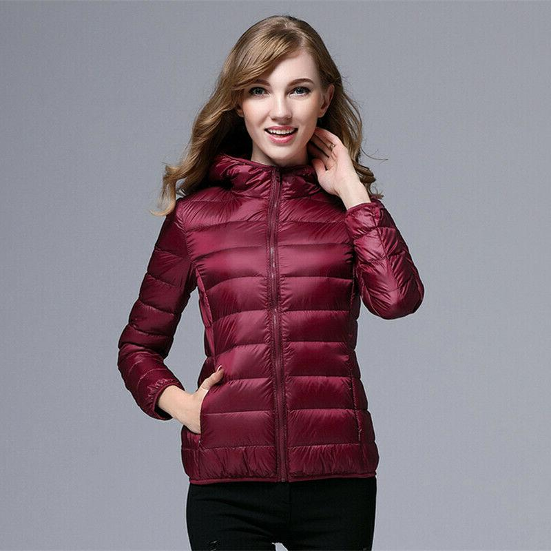 NEW Packable Womens Goose Down Ultralight Jacket Coat