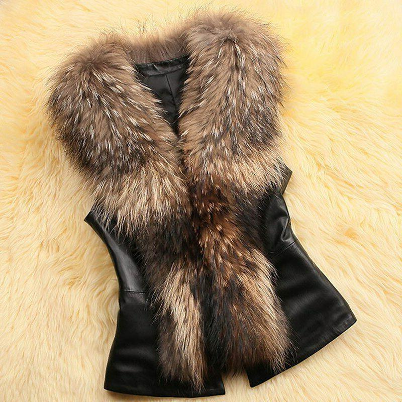 New Plus Fur Winter Coats Sleeveless Collar Jackets