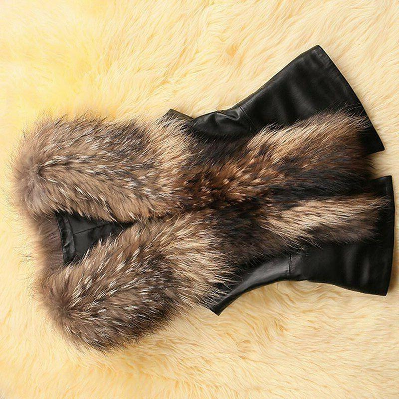 New Plus Fur Leather Women Winter Coats Jackets