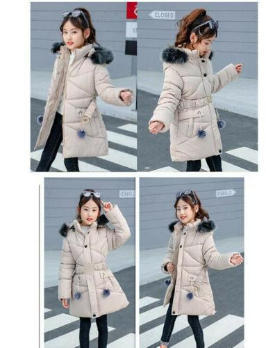 New Winter Child Cotton Jacket Fleece Hooded Outerwear