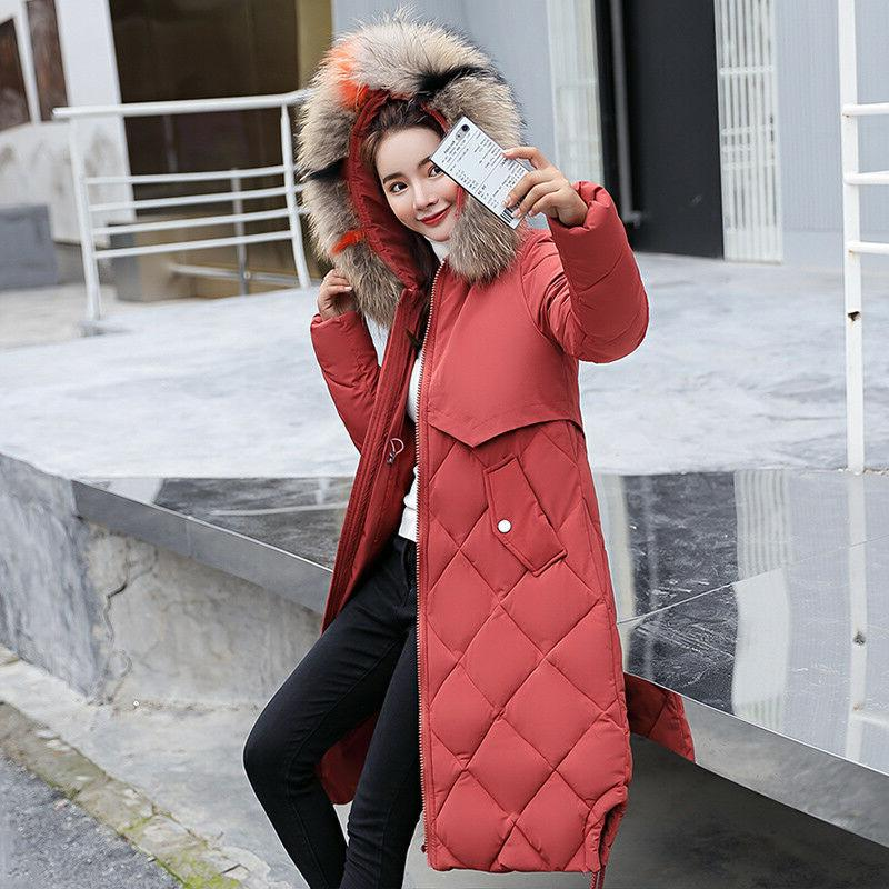 New Down Fur Collar Hooded Quilted Jacket