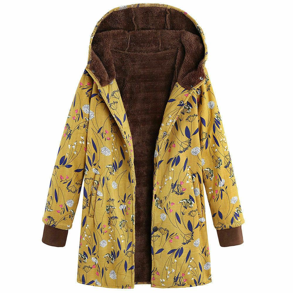 New Women Winter Outwear Pockets Vintage Oversize Coats