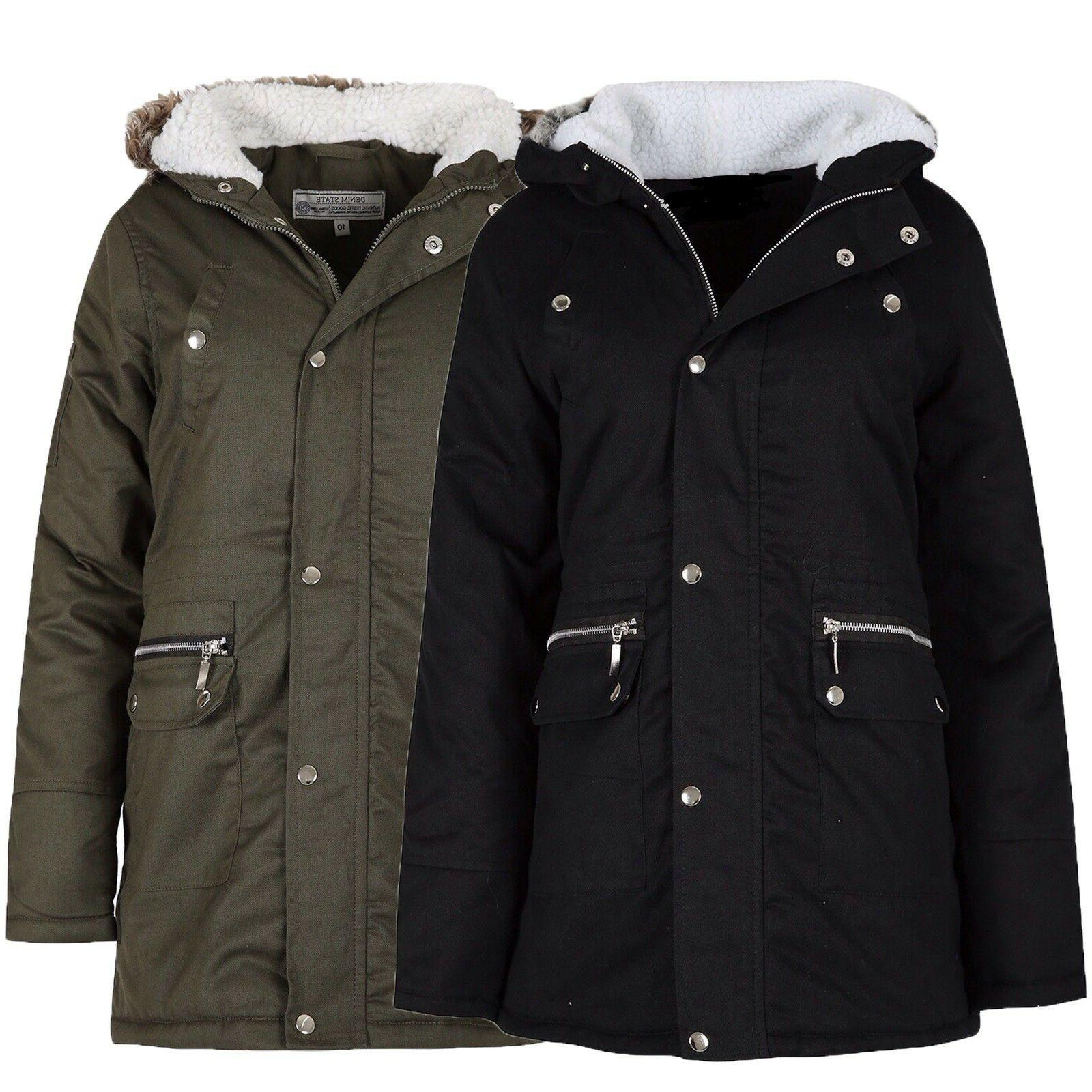 new womens ladies plus size winter parka