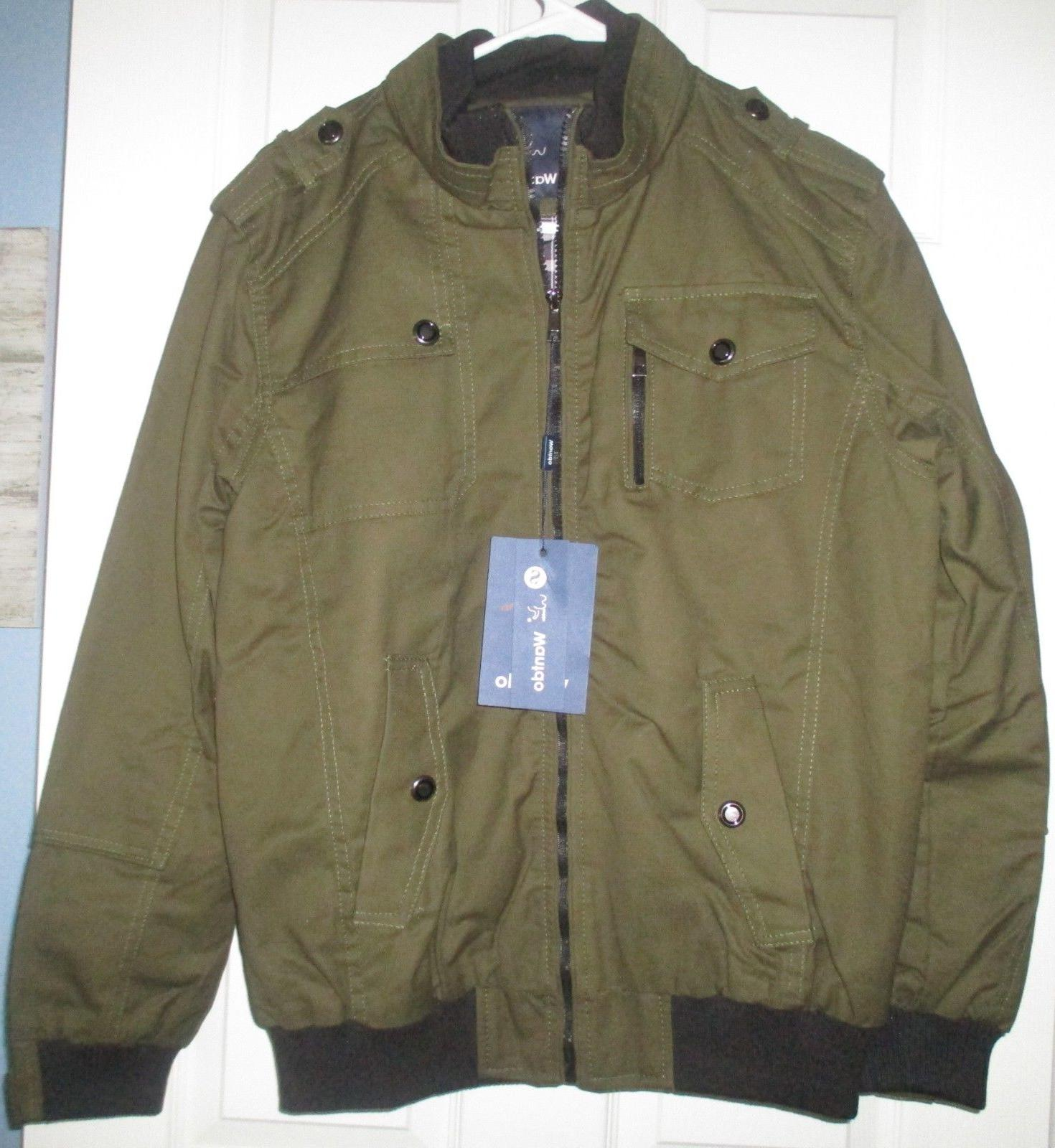 nwt army green winter fall coat lined