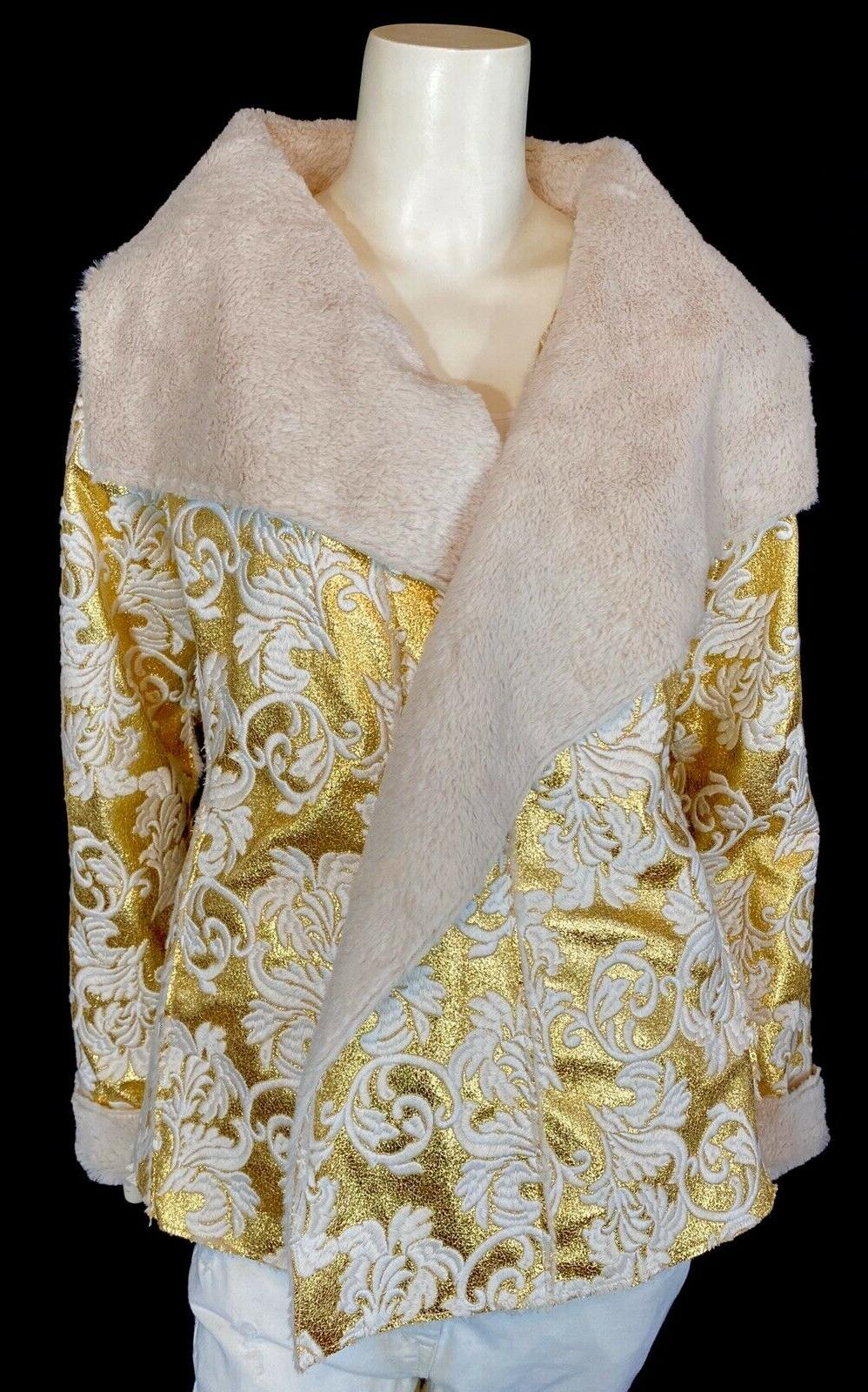 nwt gold faux leather reykja soft sherpa