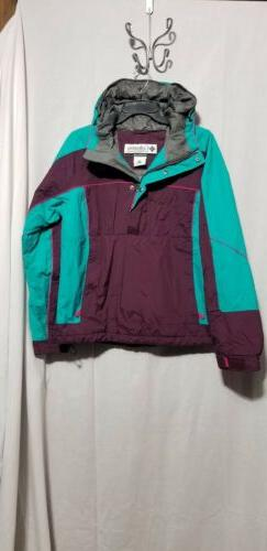 COLUMBIA OMNI SHIELD INSULATED PULLOVER WINTER COAT - SZ M -