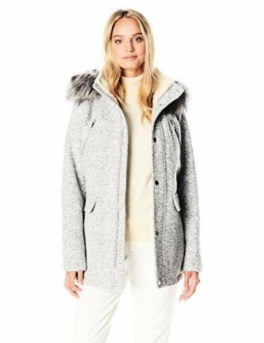 Nautica Womens Outerwear Q223553 Novelty Wool Anorak W/ Faux