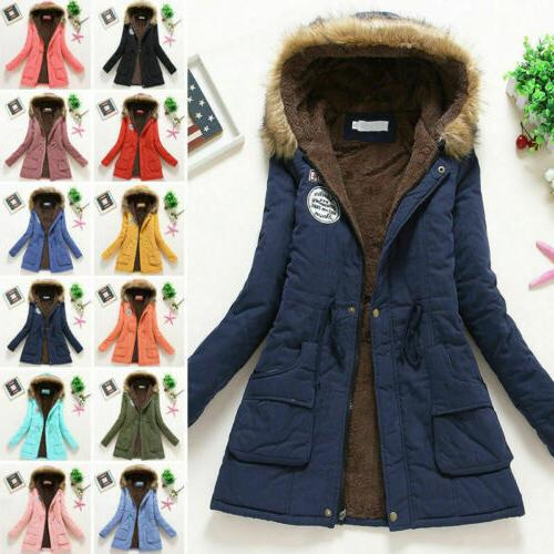 Hooded Faux Fur Parka Jacket Trench