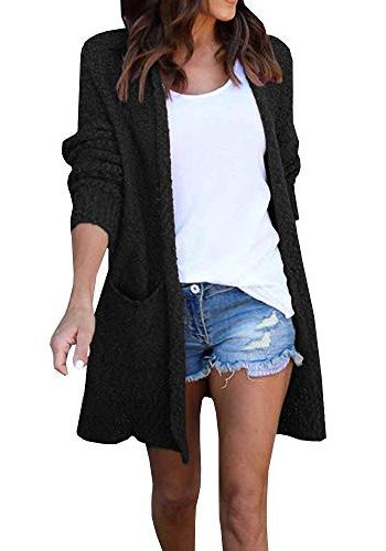 oversized open front cardigan casual