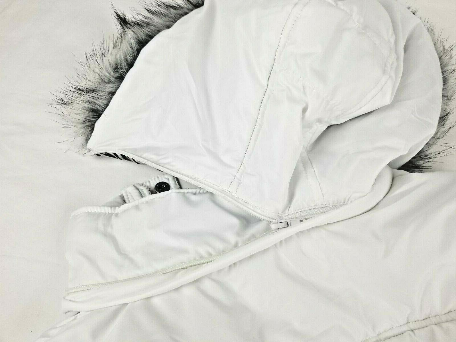 Dollhouse Outerwear Padded White Coat Faux Fur