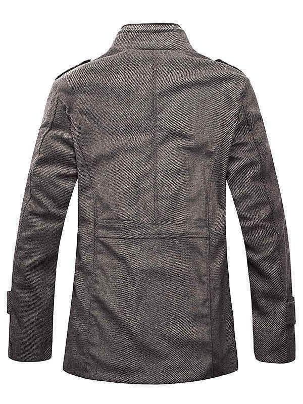 Pea Blend Pea Coat Jackets Large color gray