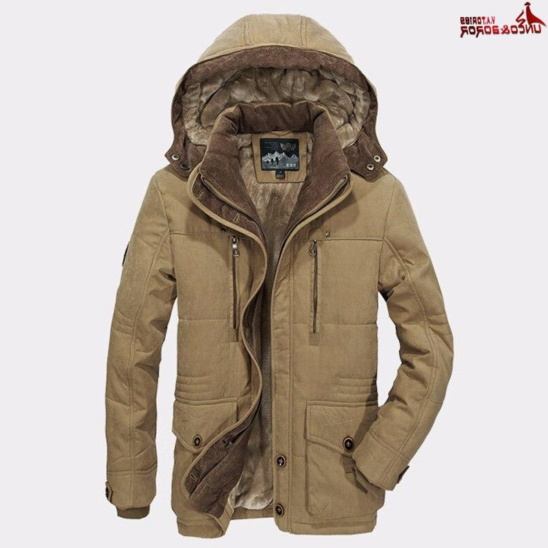 Plus 5XL <font><b>Men</b></font>`<font><b>s</b></font> <font><b>Winter</b></font> Thick <font><b>Jackets</b></font> Male Outerwear Detachable With Windbreaker