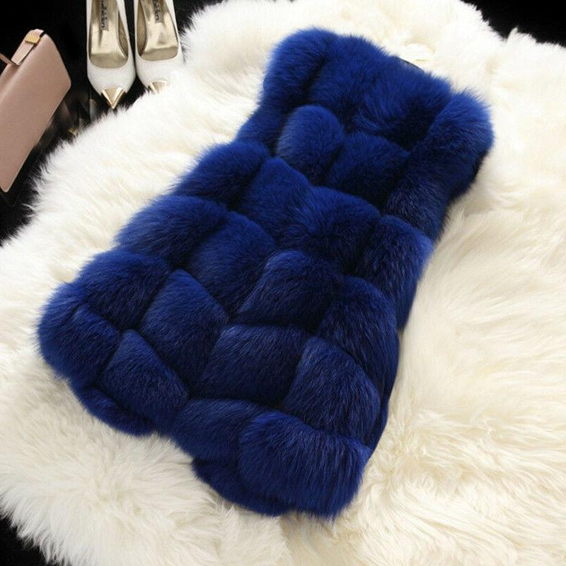 Plus Women Faux Fur Vest Outwear Matching Winter