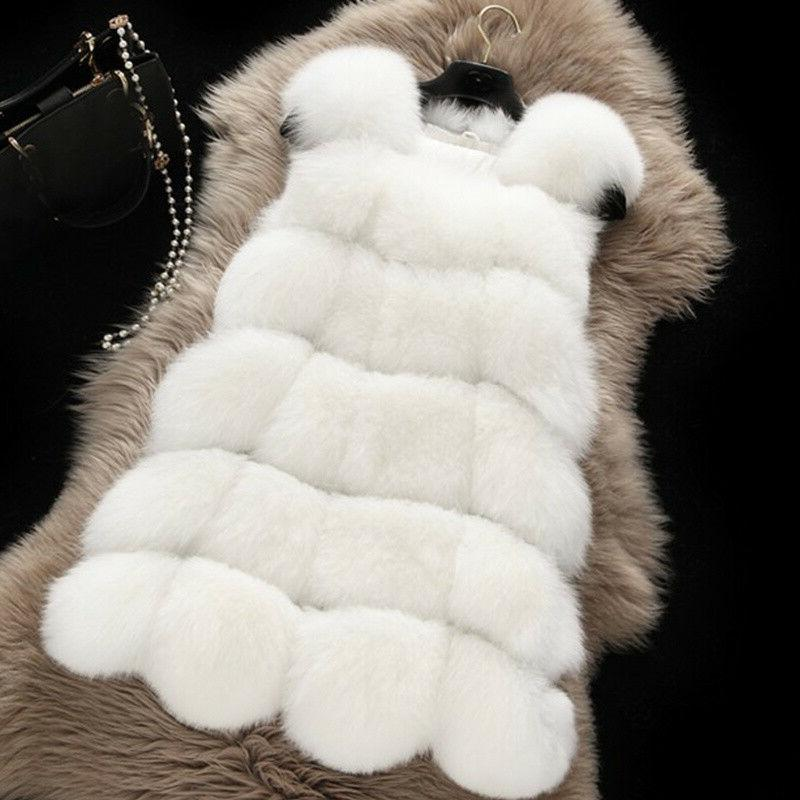 Plus Size Faux Fur Vest Matching Warm
