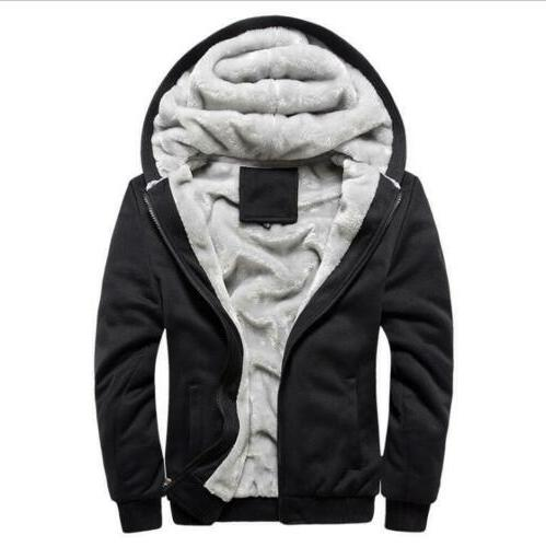 Plus Size Hooded Lined Zip Jacket Sweatshirt