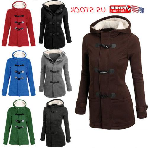 plus size women hooded long sleeve winter
