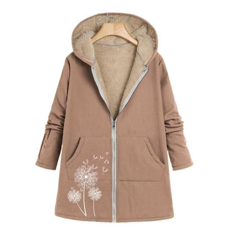 Plus Size Sleeve Coat Winter Outwear
