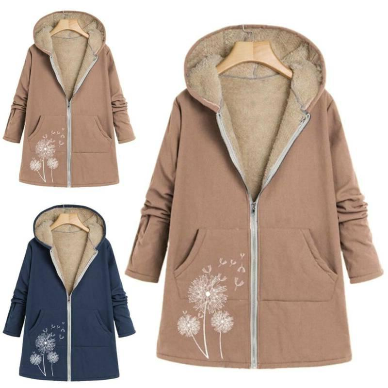 plus size women long sleeve zip hooded