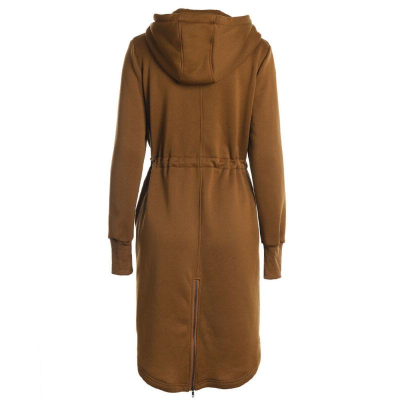 Plus Size Hoodies Jacket Coat Outwear Winter Long