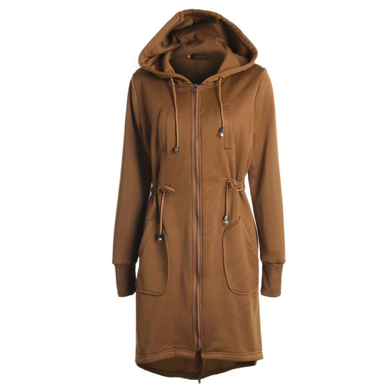 Plus Size Women's Hooded Hoodies Jacket Coat Winter Outwear