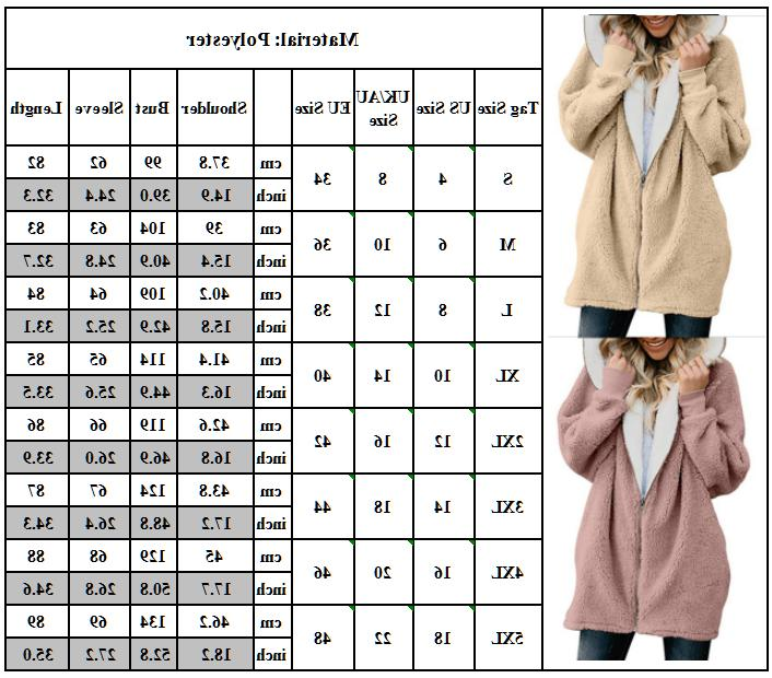 Plus Women's Fuzzy Fluffy Jacket Winter