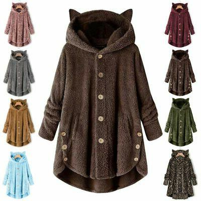 Plus Size Hooded Coat Fleece Fur Outwear