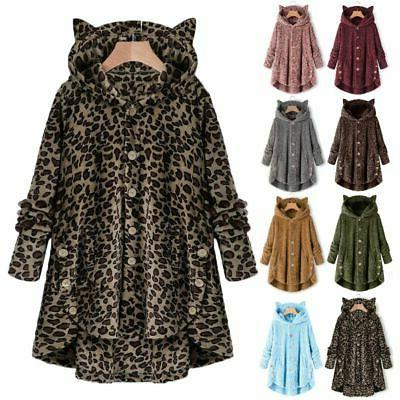Plus Hooded Fluffy Fur Jacket Outwear