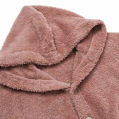 Plus Size Womens Hooded Fur Jacket Long Coat
