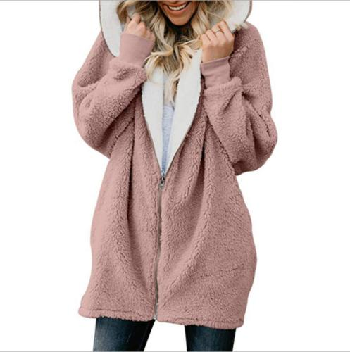 Women Winter Hoodie Oversized Jacket Zip