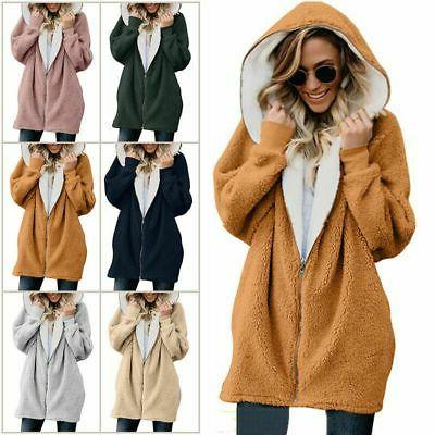 Plus Size Hooded Fluffy Fleece Fur Cover