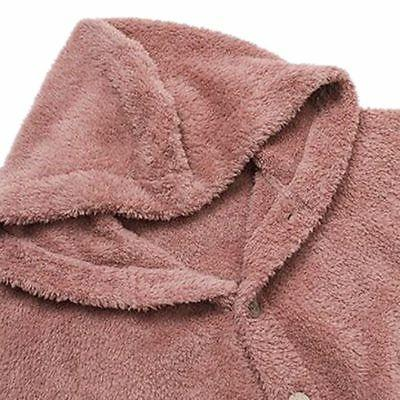 Women Plus Hooded Fluffy Coat Fur Jacket Tops Winter