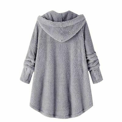 Plus Size Womens Winter Hooded Jacket Tops Coat US
