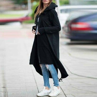 Plus Size Winter Hooded Long Warm Jacket Outwear USA