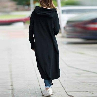 Plus Womens Hooded Long Warm Jacket Outwear