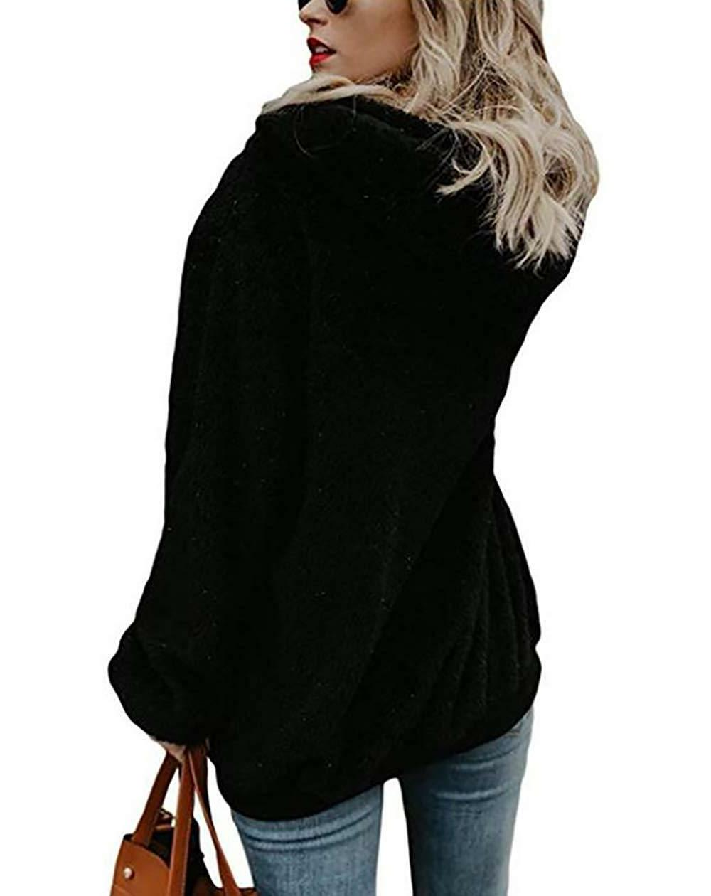 PRETTYGARDEN Winter Fleece Coat Oversized Hooded Pullover