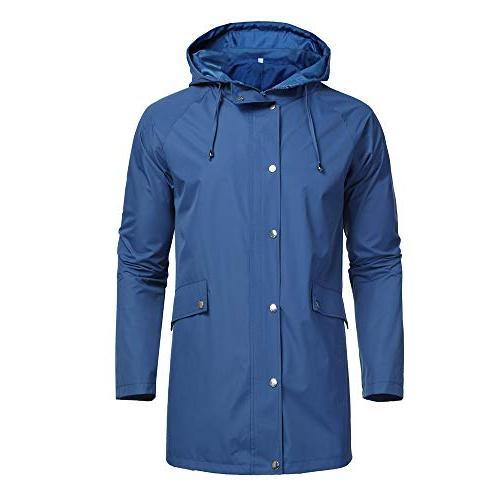 Romanstii Waterproof for and Packable Lightweight Windproof,Unisex,for Outdoor Activities