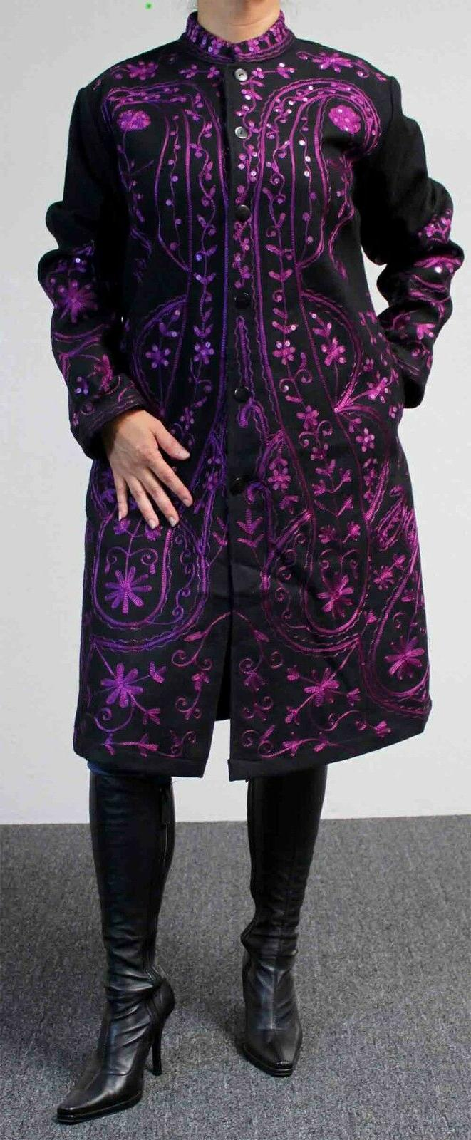 rare all wool embroidered plus size european
