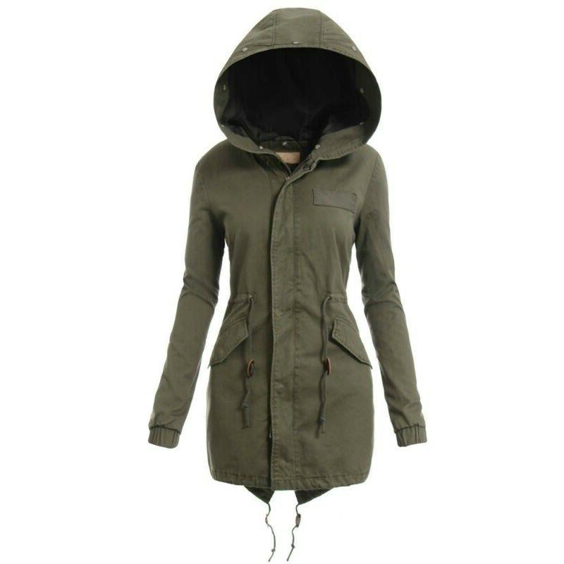Removeable Fur Collar Coat Hooded Camo