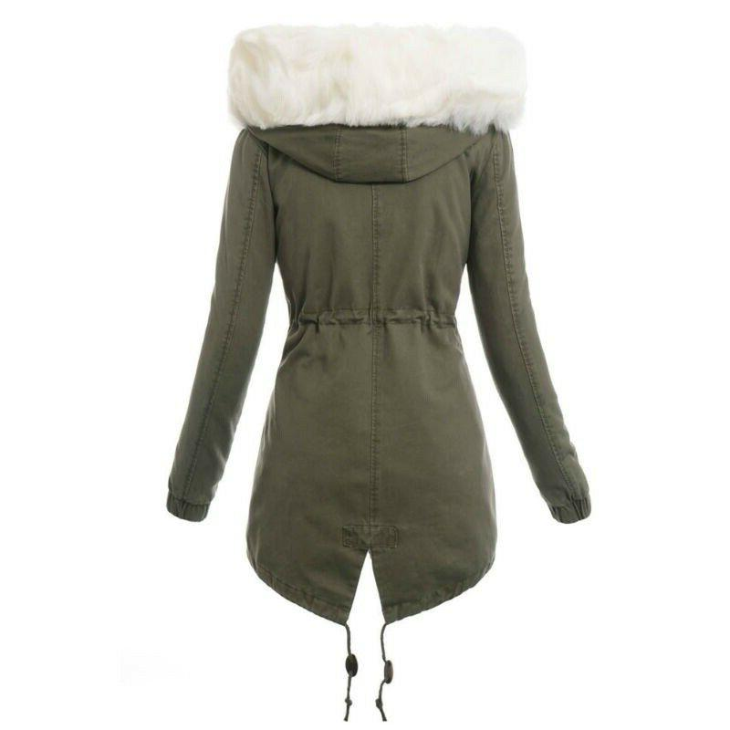 Removeable Fur Coat Winter Parka Hooded