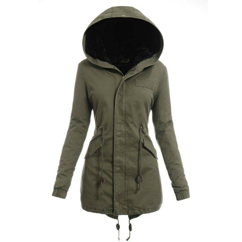 Removeable Fur Collar Padded Coat Hooded Camo 3Color
