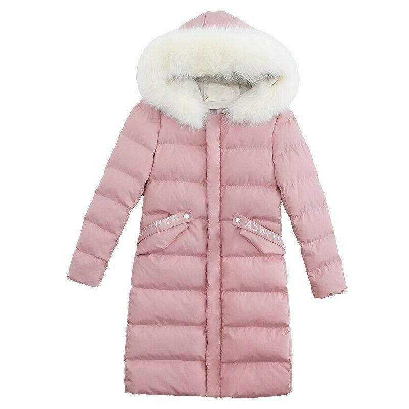 Thick Winter Coat Long Solid Female Parkas
