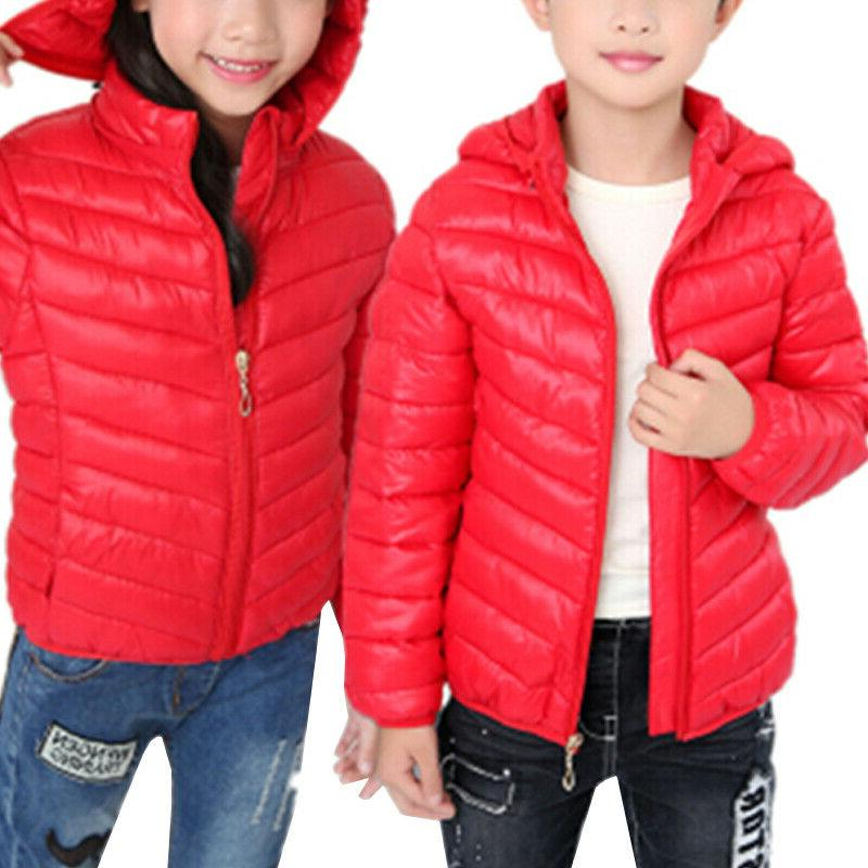 Toddler Baby Girls Winter Casual Hooded Warm