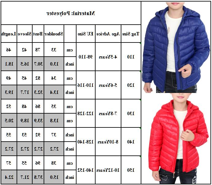Toddler Girls Winter Casual Windproof Hooded Warm