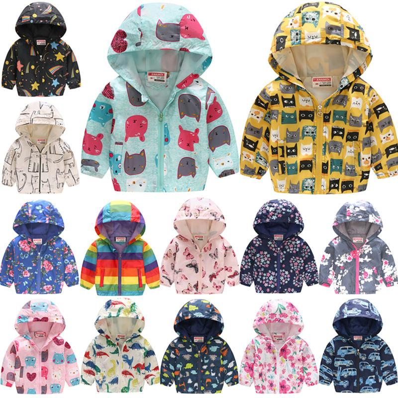 Toddler Baby Girls Boys Cartoon Hoodie Winter Warm Jacket Ho