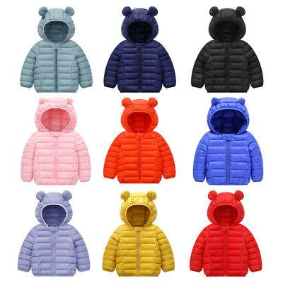 Toddler Babys Boys Winter Outerwear Coat Kids