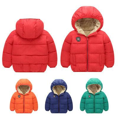 toddler kids baby winter warm soft hooded