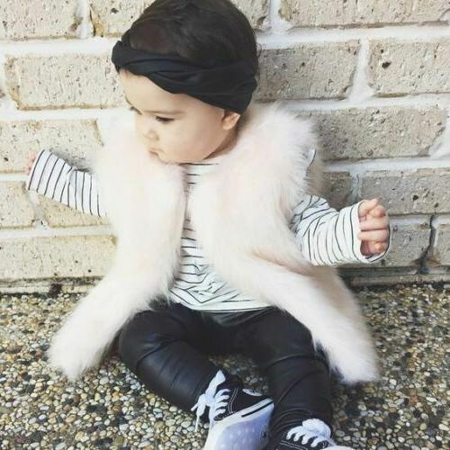 Toddler Kids Baby Winter Coat Fur Outerwear Clothes