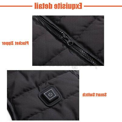 Unisex Heated Vest Winter Warm-Up Jacket