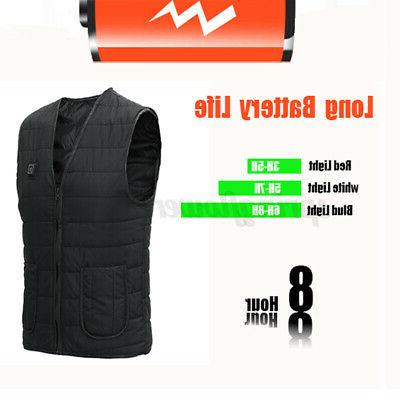 Unisex Electric Heated Winter Fast Coat Jacket